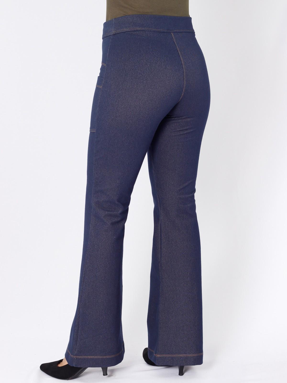 Calça Flare Jeans de Malha