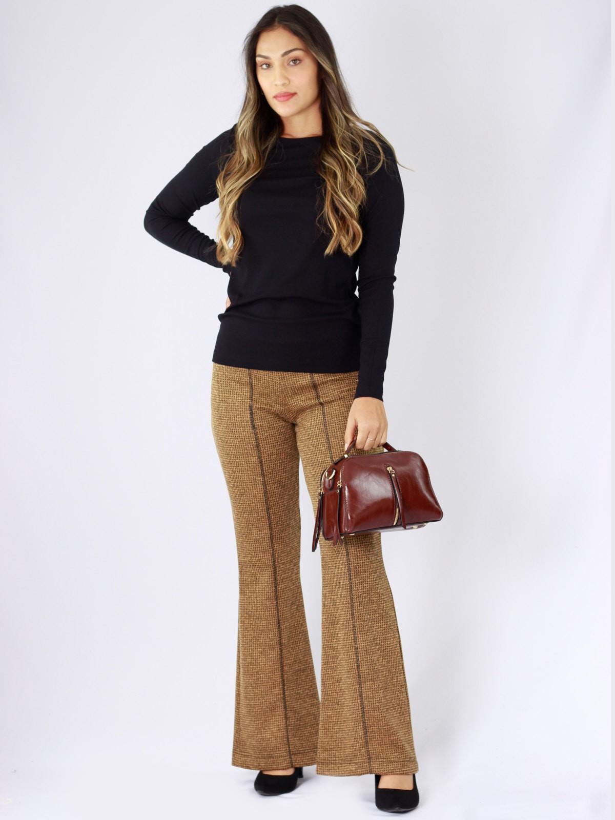 Calça Flare Tweed
