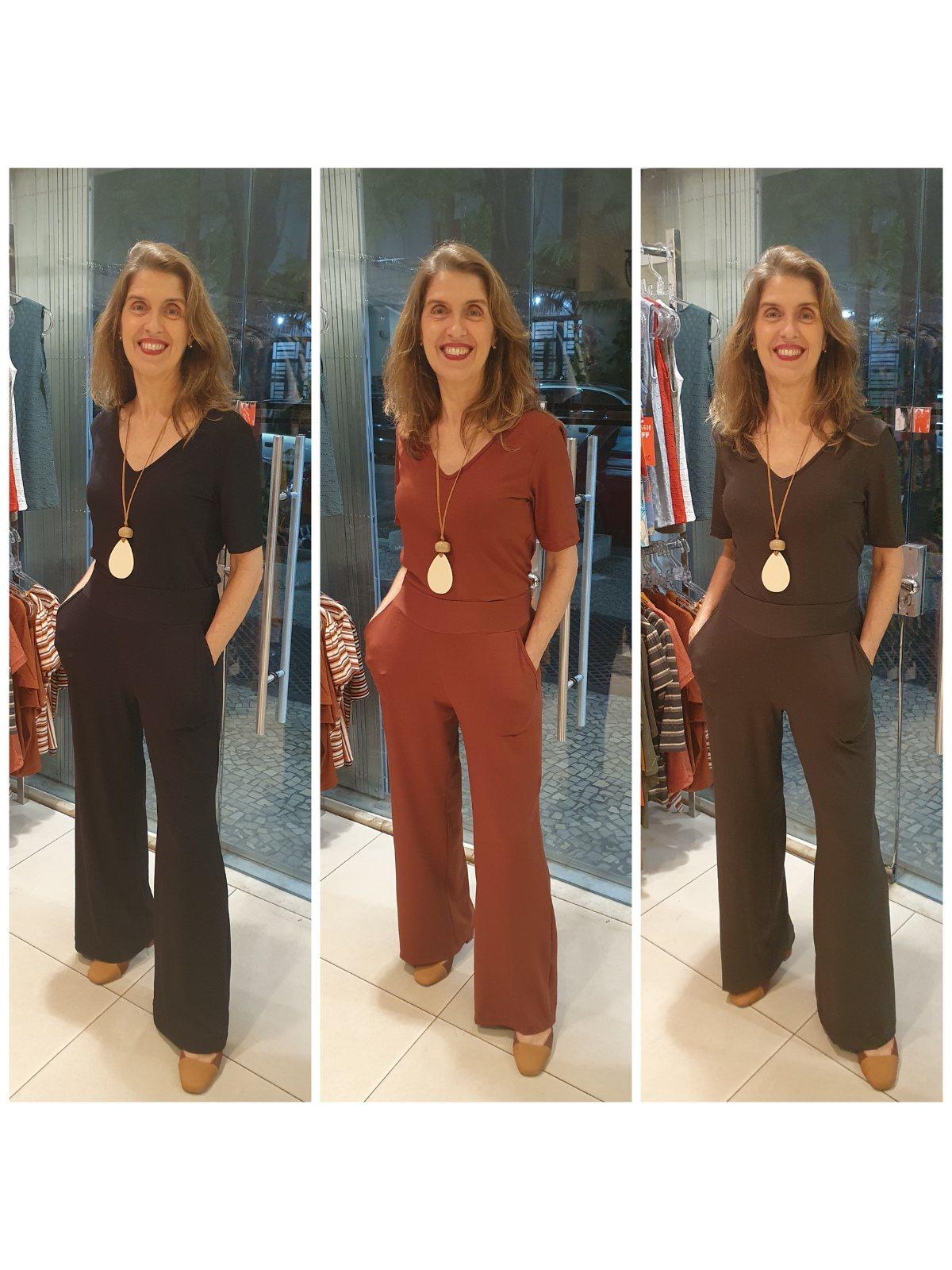 Calça Malha de Viscose Premium com Bolsos(Somente Calça) Conjunto Custa R$258,00