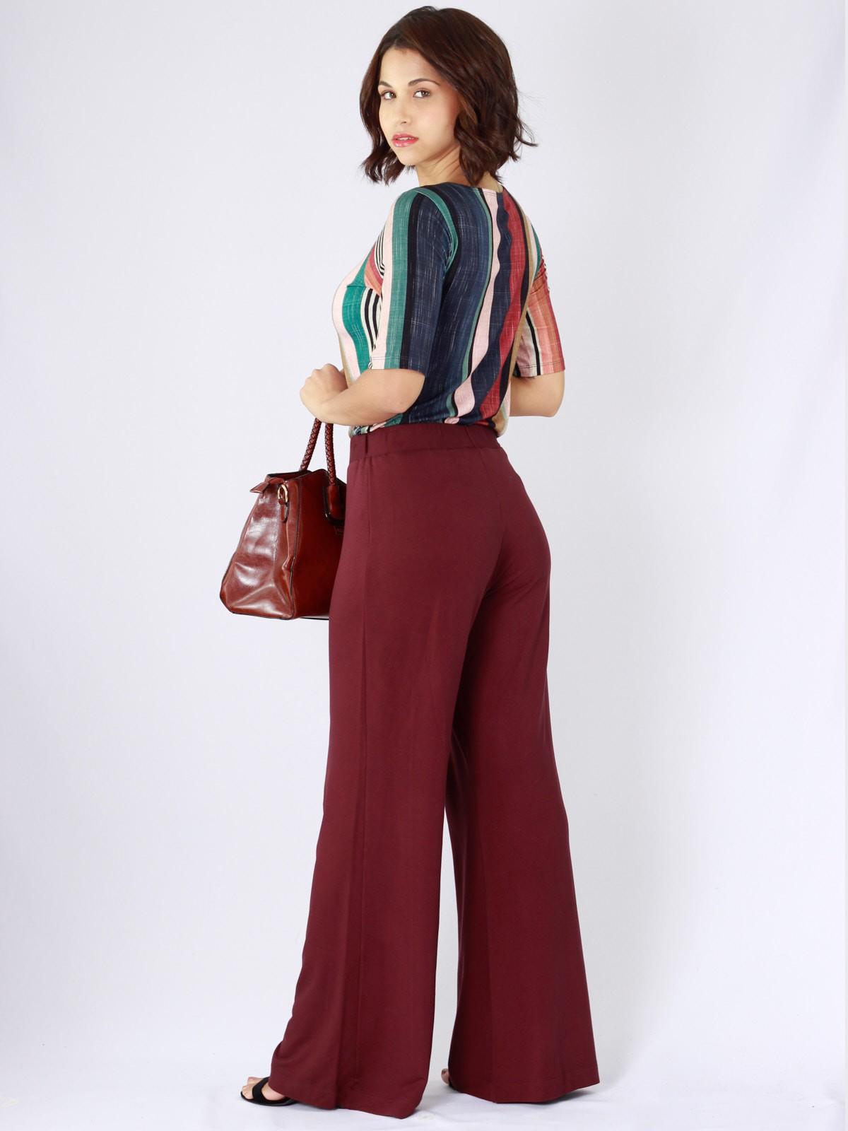 Calça Pantalona de Malha