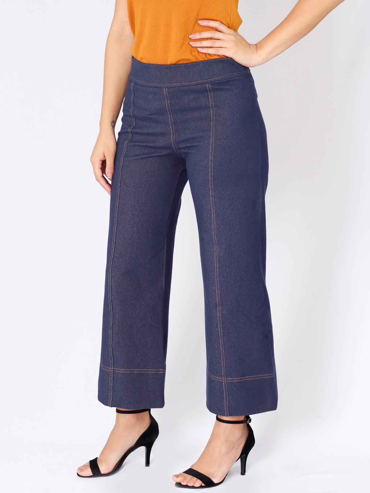 Calça Pantacourt Jeans Malha