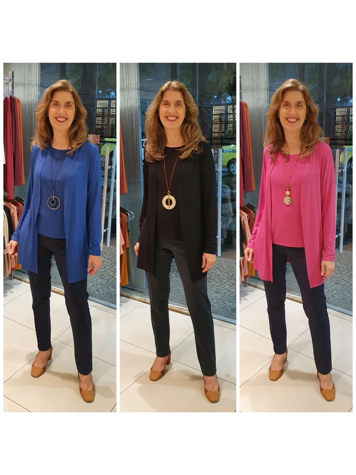 Twinset Malha Viscose  (Casaco + Blusa Regata)