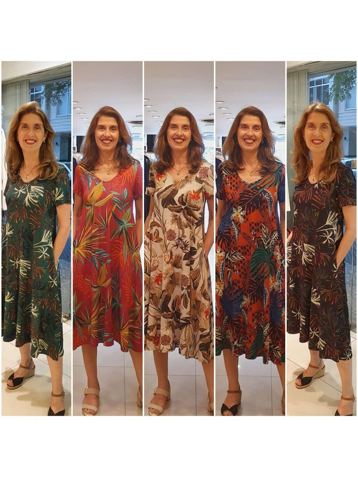 Vestido Carla em Viscolycra Premium com Estampa Digital Alta Qualidade