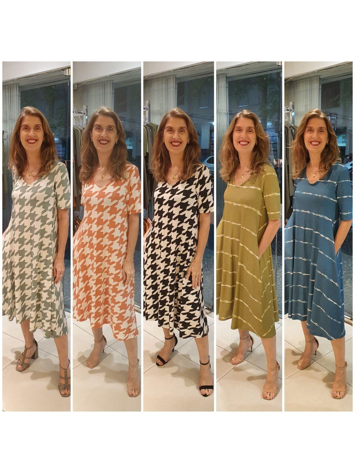 Vestido Carla Malha Estampada