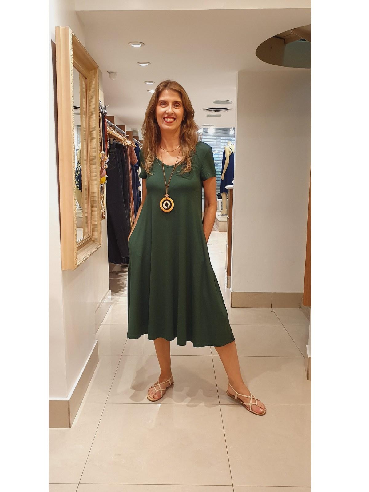 Vestido Carla em Malha Viscolycra Premium Alta Qualidade