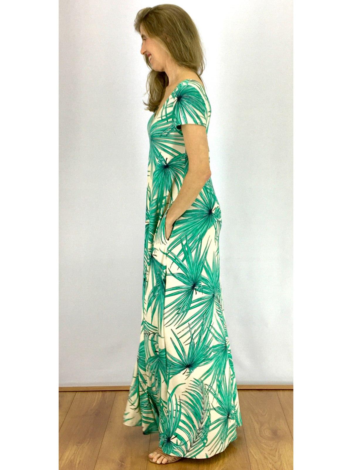 Vestido Longo Malha Estampada
