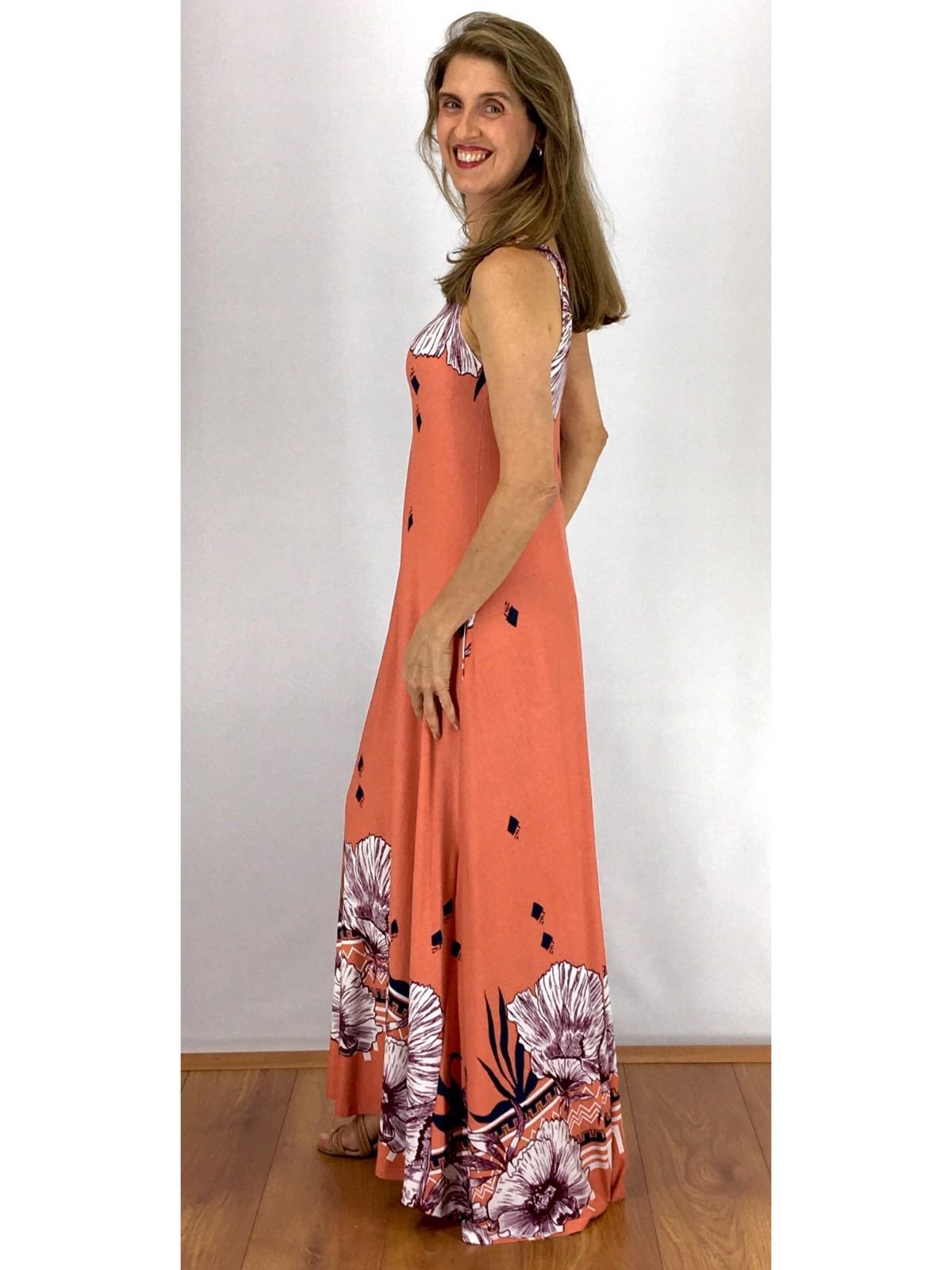 Vestido Longo Malha Estampado