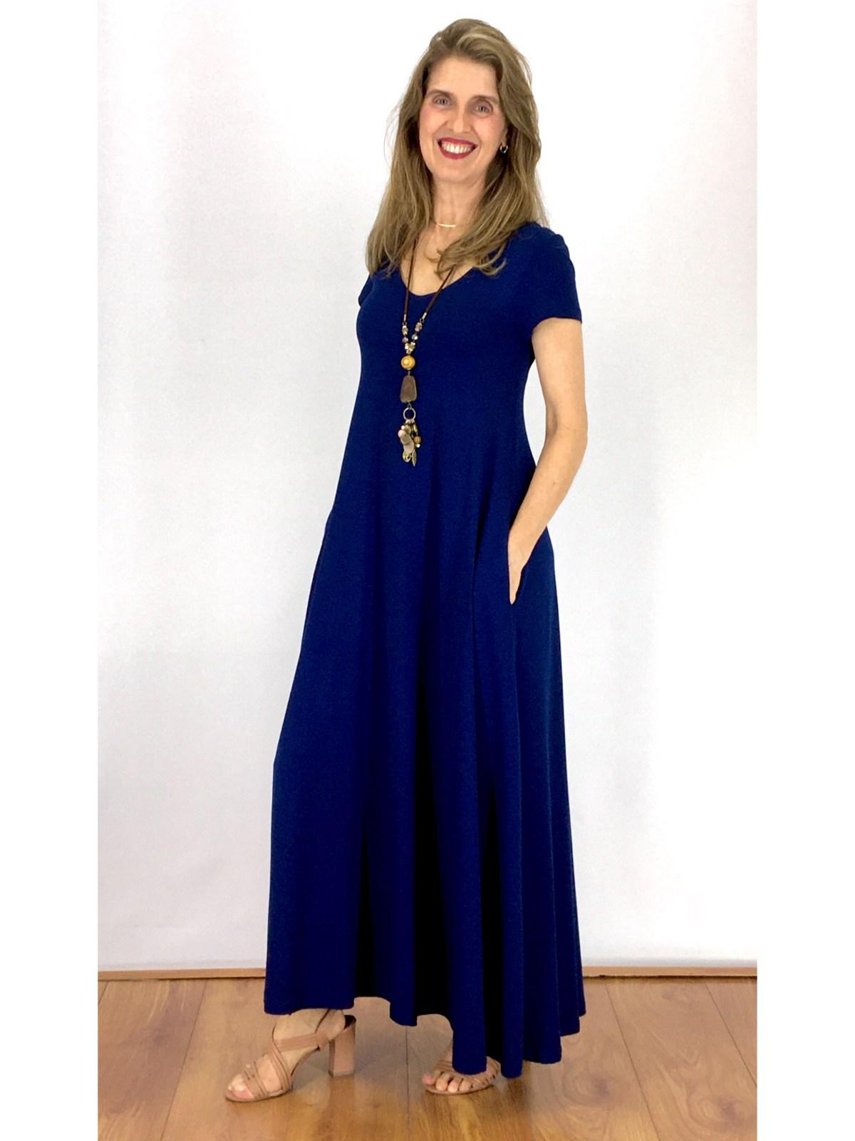 Vestido Longo Malha Lisa