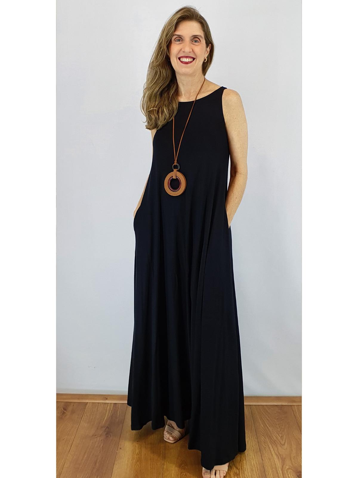 Vestido Longo Malha Lisa Regina