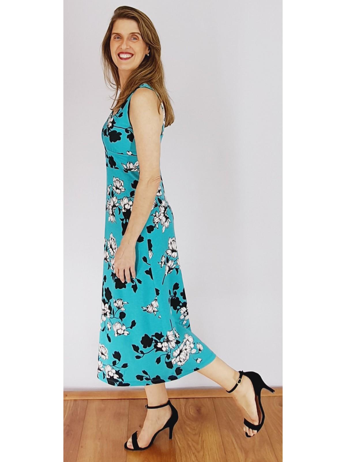 Vestido Longuete Malha Estampada