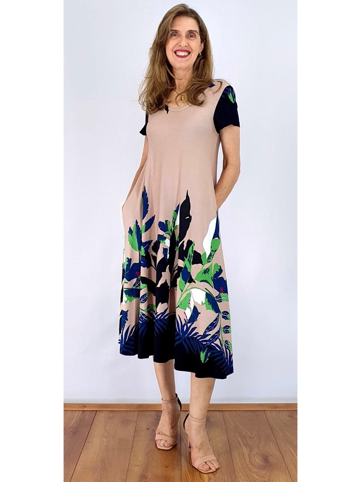 Vestido Longuete Malha Estampado