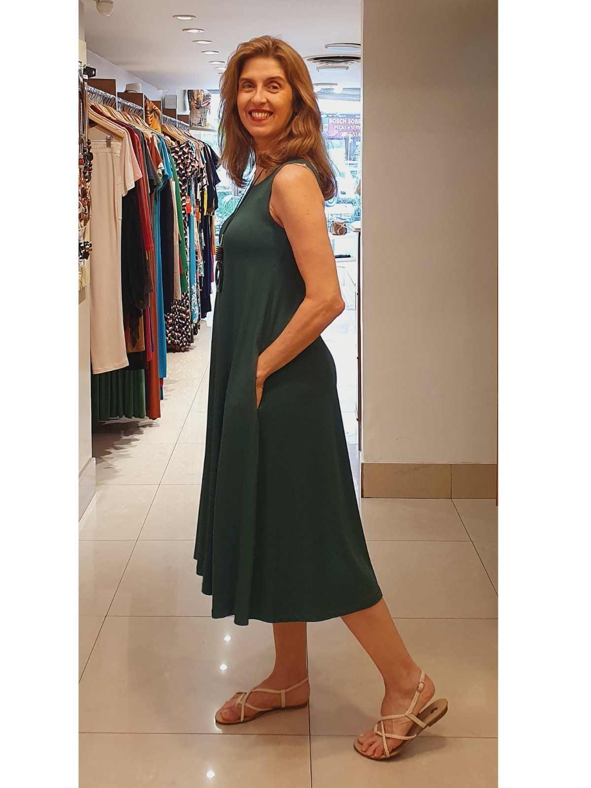 Vestido Paula em Malha Viscolycra Premium Alta Qualidade