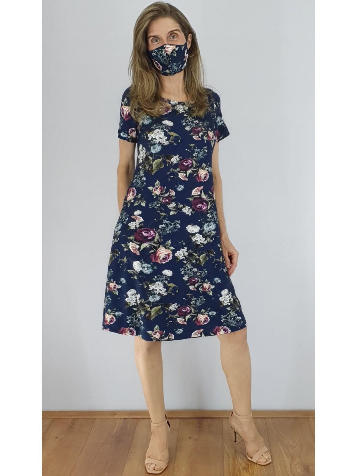 Vestido Malha Digital Estampada em 2 Cores