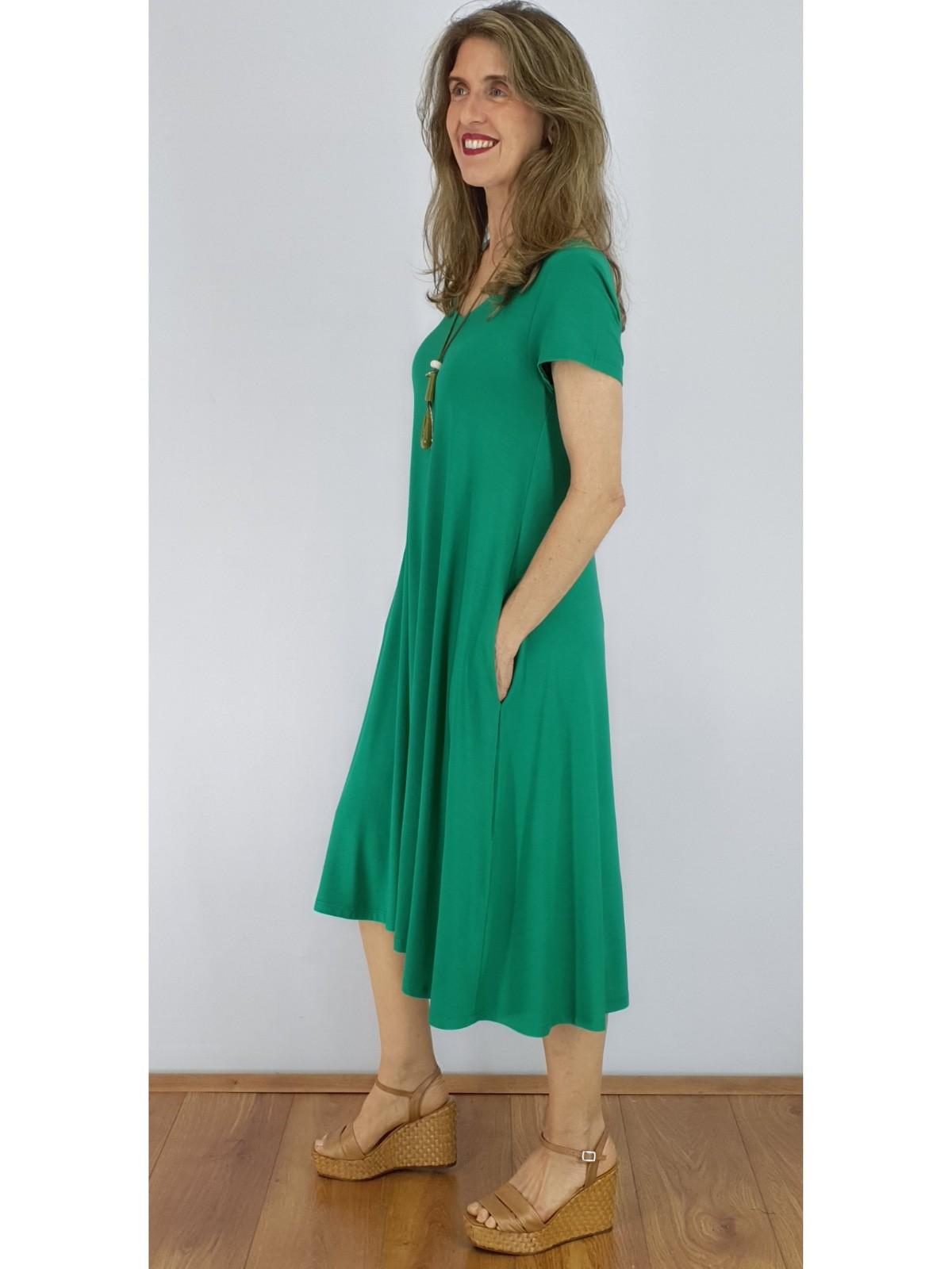 Vestido Midi Malha Lisa