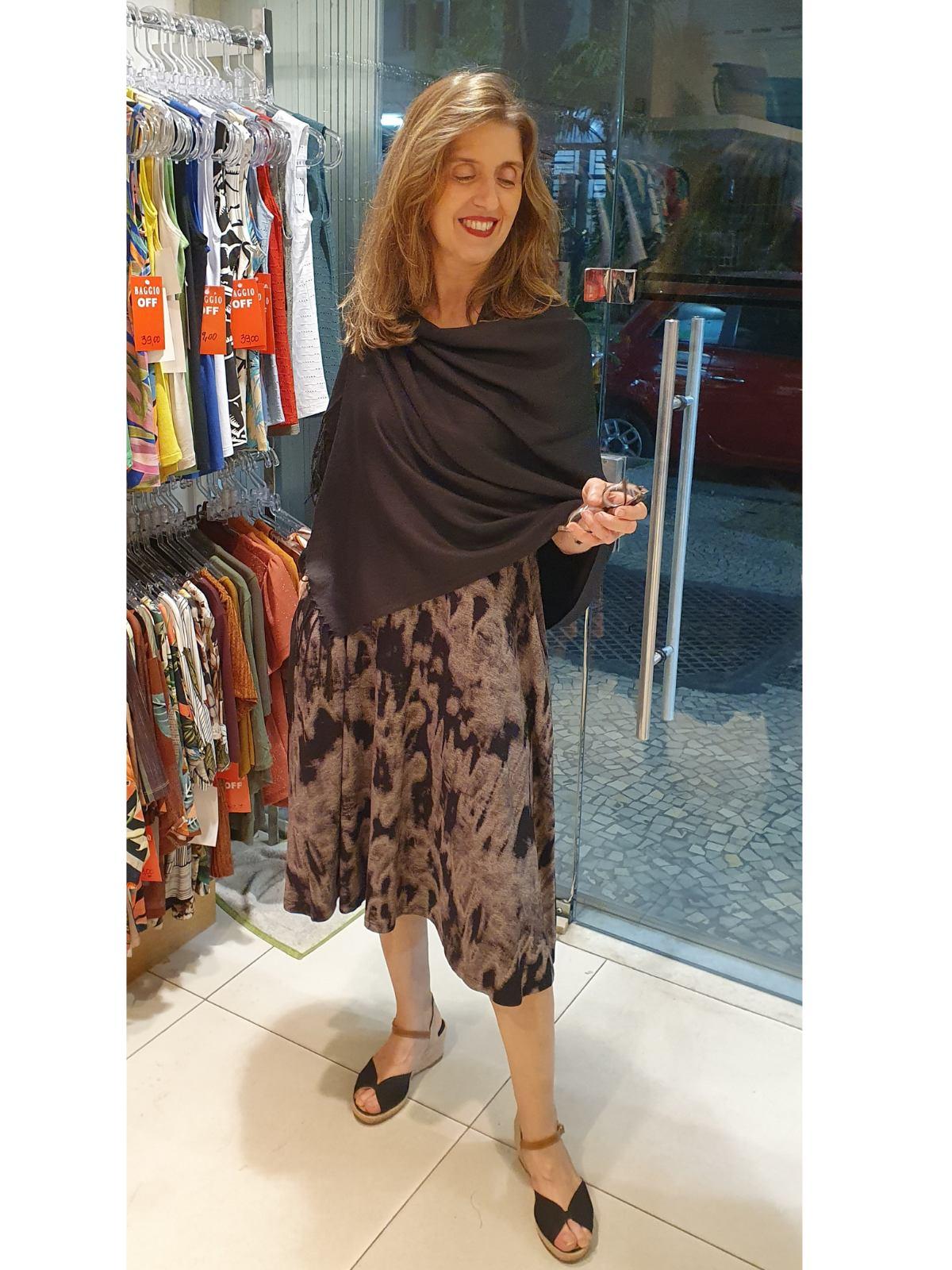 Vestido Carla Midi Malha Tie Dye