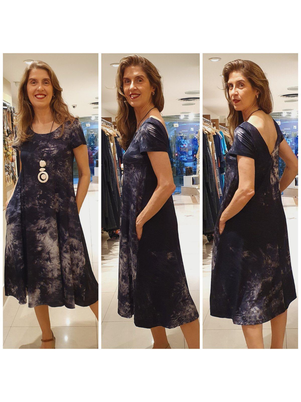Vestido Midi Malha Tie Dye mod.CARLA
