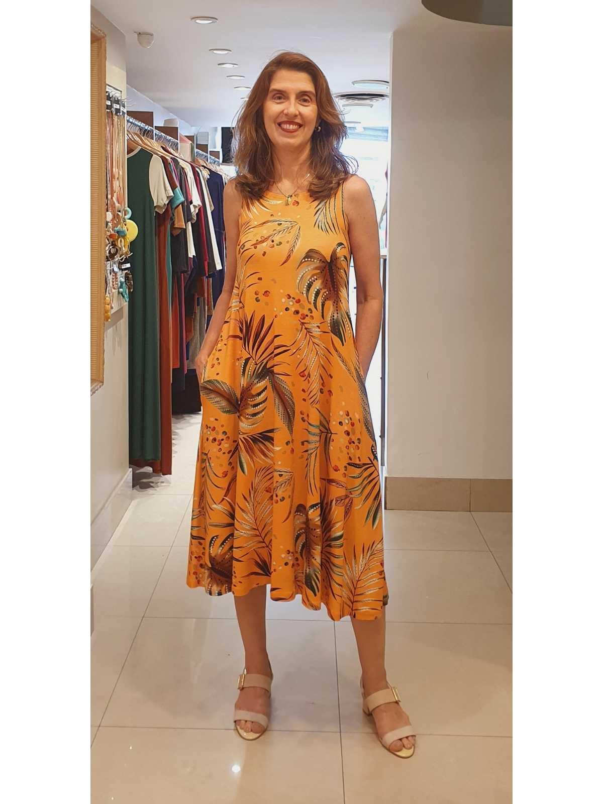 Vestido Paula em Viscolycra Premium com Estampa Digital