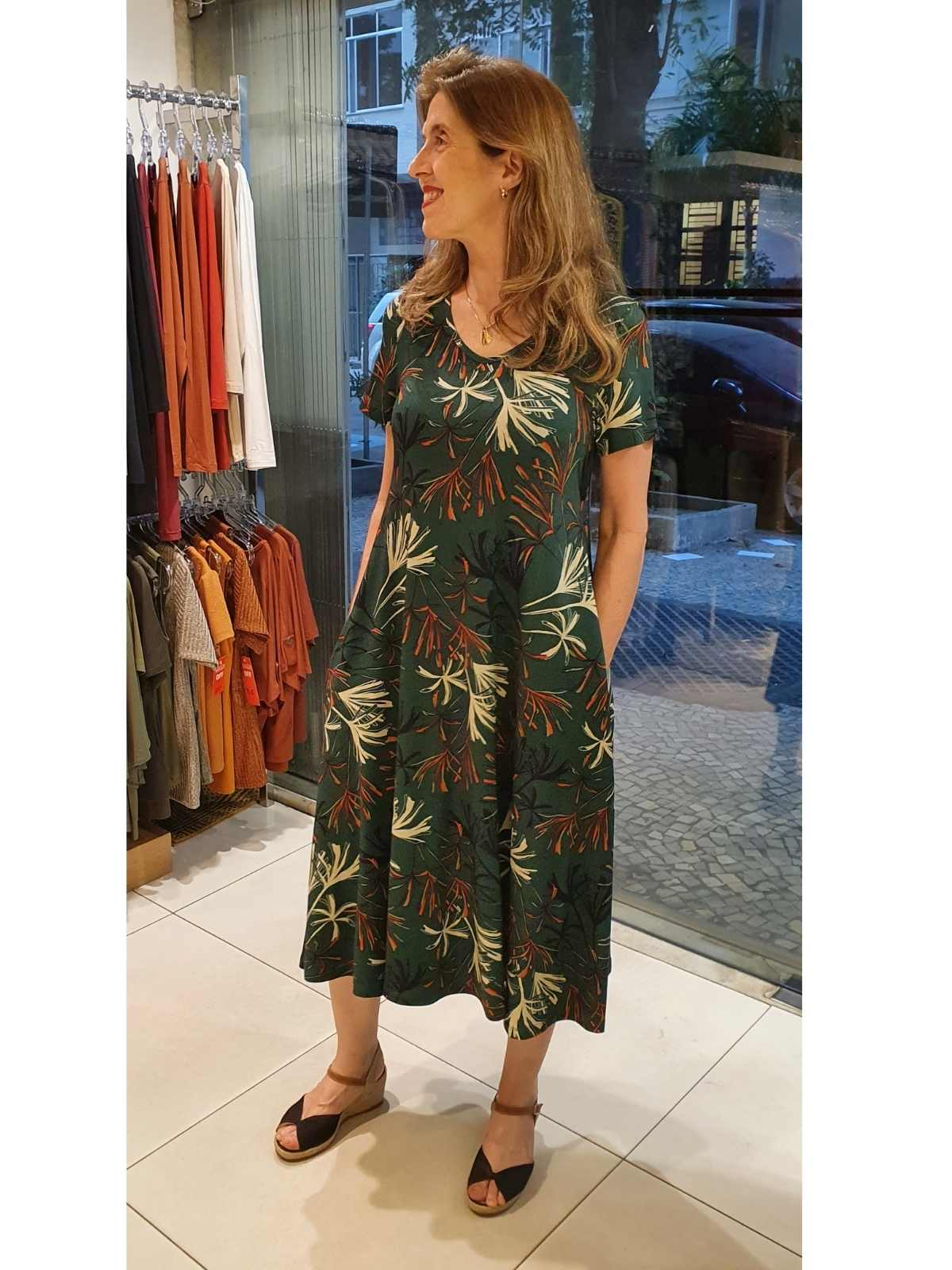 Vestido Carla Malha Digital Estampada