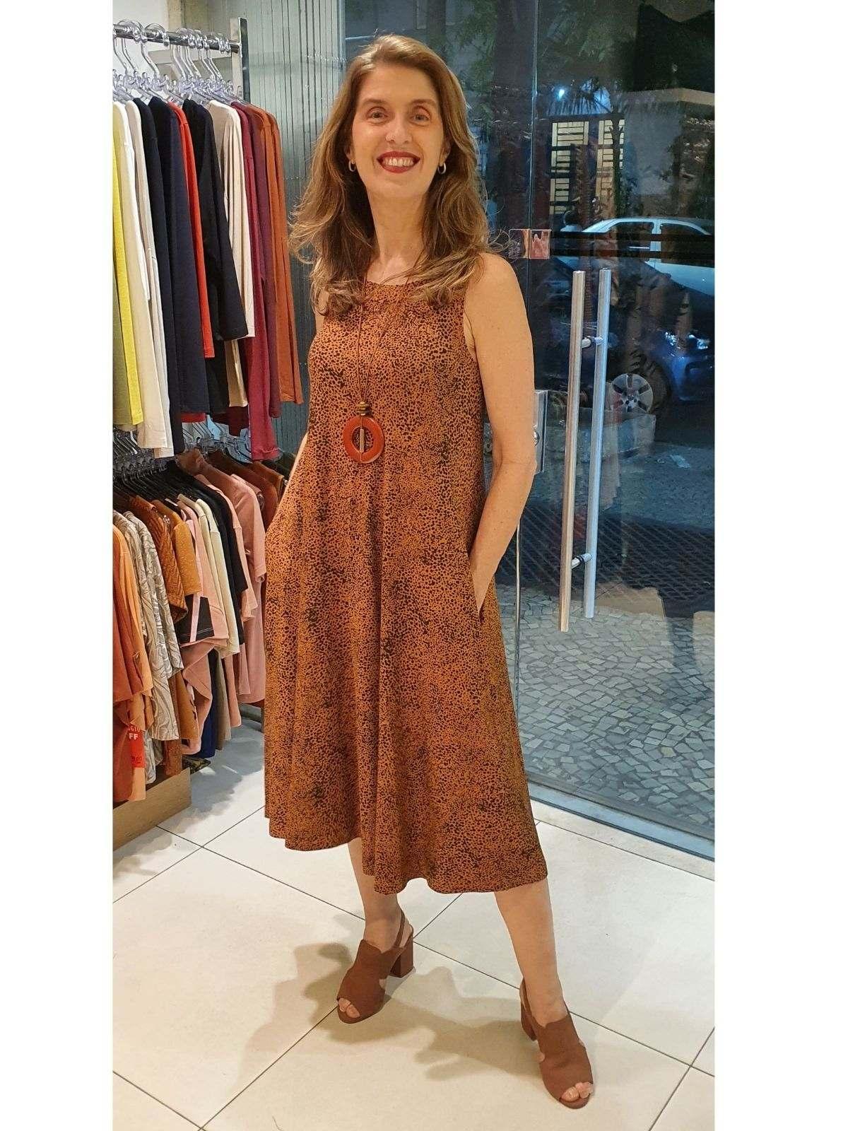 Vestido Paula Viscolycra Estampada
