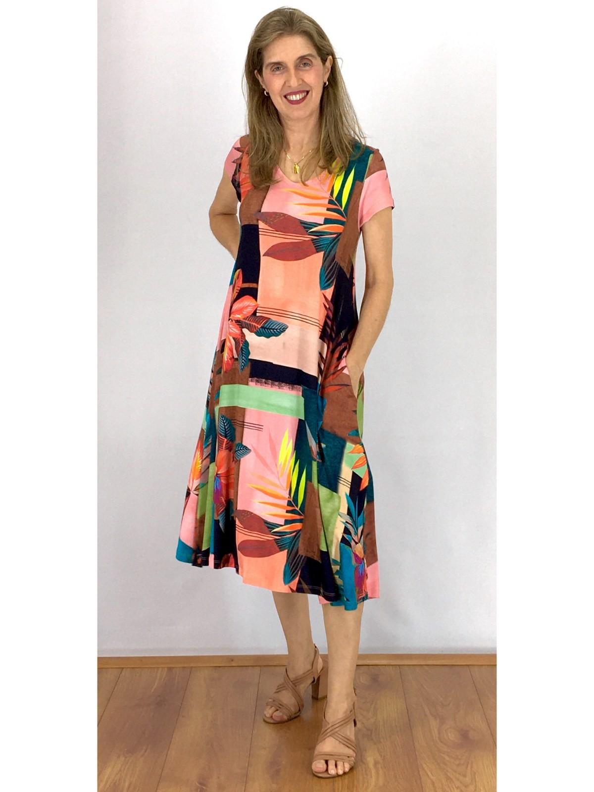 Vestido Modelagem Grande em Estampa Digital