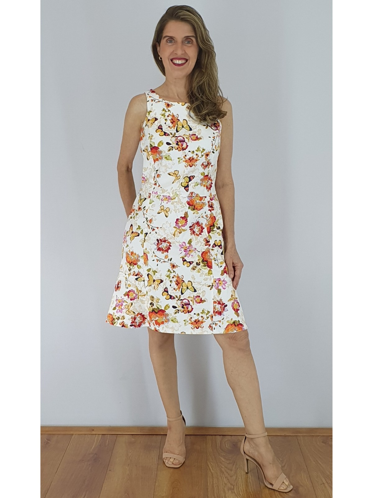 Vestido Satin Cotton Estampado