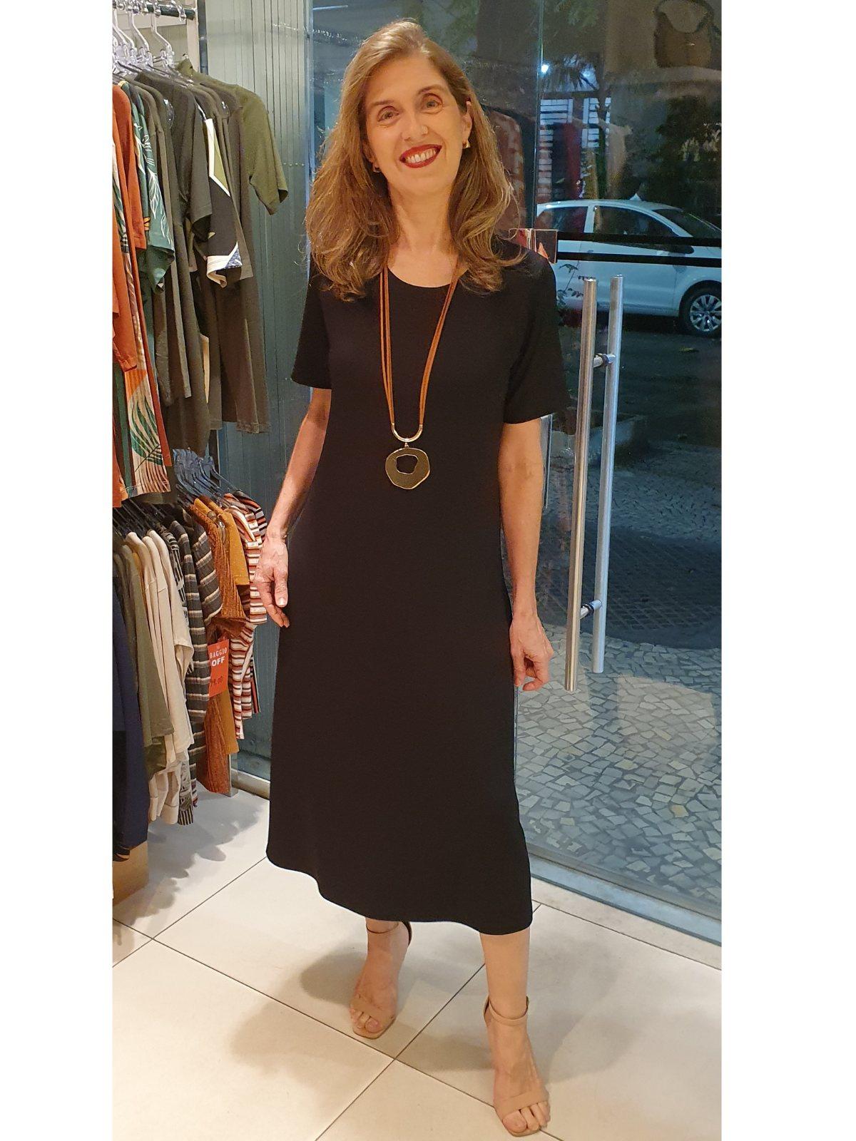 Vestido Wanda Midi  em Moletinho de Viscose