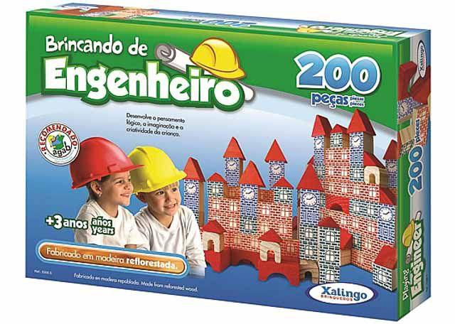 JOGO XALINGO BRINCANDO DE ENGENHEIRO 200 PEÇAS 5306-5