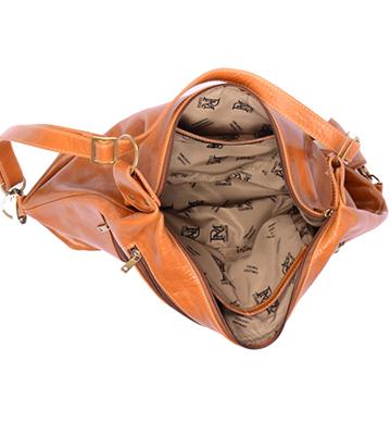 Bolsa mochila de Couro com Divisões 467