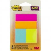 Bloco autoadesivo Post-it 3 tamanhos  4 UN c/ cores sortidas - 3M
