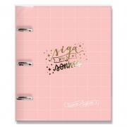 Caderno argolado Rosa quadriculado - Fina Ideia