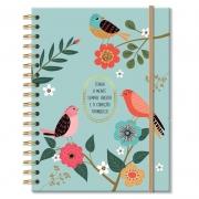 Caderno colegial 96 fls. Pássaros - Fina Ideia