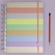 Caderno Inteligente Grande + Arco Íris Pastel - 140 Folhas 90G