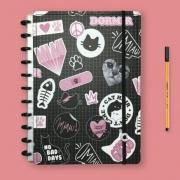 Caderno Inteligente Grande Uatt Miau Lover - 80 Folhas