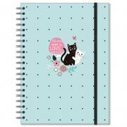 Caderno universitário 96 fls. Gatos - Fina Ideia