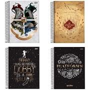 Caderno Universitário  Harry Potter Capa Dura 10 Matérias 200 Fls Decorada - Jandaia