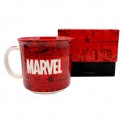Caneca de Cerâmica 350ml Gibis Marvel em vermelho Zona Criativa