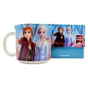 Caneca Tom Frozen My Element Princesa Disney Elsa Anna 350ml - Zona Criativa