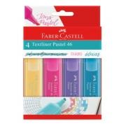 Caneta Marca Texto Textliner Pastel 46 Estojo c/ 4 Cores - Faber-Castell