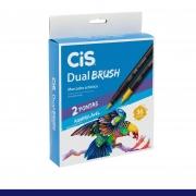Caneta Pincel Dual Brush Aquarelável Estojo c/36 Cores -  Cis