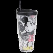 Copo com canudo Mickey Mouse 650ml