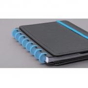 Disco + Elástico Azul Atlântico - Acessório Caderno Inteligente