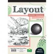 Layout Papel Branco A4 180g/m² - Jandaia Arts c/ 20 folhas