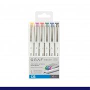 Marcador Artístico Cis Graf Brush Fine 6 Cores