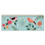 Planner Organizador semanal Pássaros - Fina Ideia