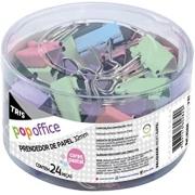Prendedor Pop Office Binder Clips Pastel 25mm  48un - Tris