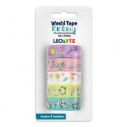 Washi Tape Fantasy 15mmx5m c/5 Unid LeoArt - Leonora