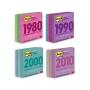 Bloco Adesivo Post-It Edição Aniversário 40 Anos c/ 03 Cores - 76mmx102mm - 270 Folhas- 3M
