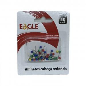 Alfinete cabeça redonda para mapas coloridos 50 unidades Eagle