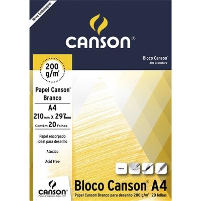 Bloco Canson Para Desenho Linha Universitária 200g/m² A4 c/ 20 Folhas - Canson