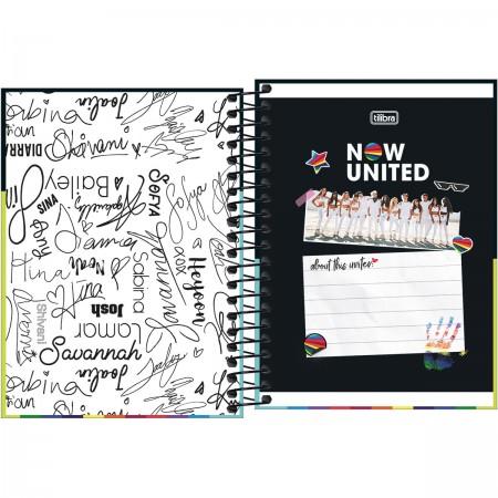 Caderneta Espiral Capa Dura 1/8 NOW UNITED c/ 80 Folhas